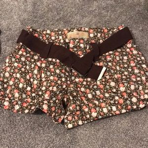 American Rag floral shorts with belt